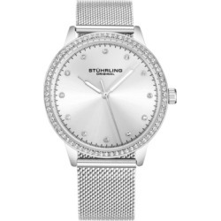 Stuhrling Original Women's Silver Case and Mesh Bracelet, Silver Dial Watch found on Bargain Bro India from Macy's for $39.89