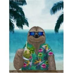 Barruf Sloth on Summer Holidays Canvas Art - 27