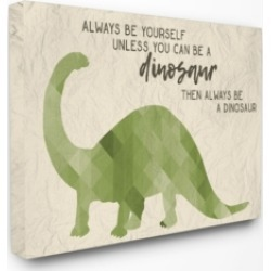 "Stupell Industries Always Be A Dinosaur Brachiosaurus Canvas Wall Art, 24"" x 30"""