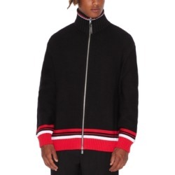 AX Armani Exchange Men's Turtleneck Full-Zip Cardigan with Striped Hem found on MODAPINS from Macy's for USD $42.93