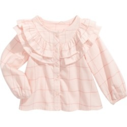 First Impressions Baby Girls Cotton Ruffle-Trim Windowpane Top, Created For Macy's found on Bargain Bro Philippines from Macys CA for $7.46