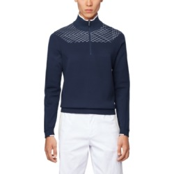 Boss Men's Zaden Zip-Neck Sweater found on MODAPINS from Macy's for USD $198.00