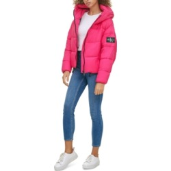 Calvin Klein Jeans Hooded Puffer Jacket found on MODAPINS from Macy's for USD $149.50