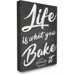"""Stupell Industries Life is What You Bake it Canvas Wall Art, 24"""" x 30"""""""