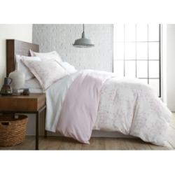 Southshore Fine Linens Soft Floral Printed Reversible Duvet Cover and Sham Set, King Bedding