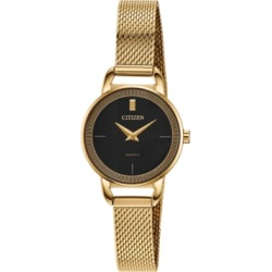 Citizen Women's Quartz Gold-Tone Stainless Steel Mesh Bracelet Watch 26mm found on Bargain Bro India from Macy's for $129.98