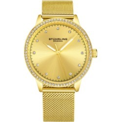 Stuhrling Original Women's Gold-Tone Case and Mesh Bracelet, Gold Dial Watch found on Bargain Bro India from Macy's Australia for $58.43