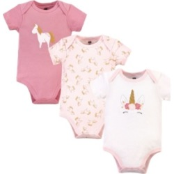 Hudson Baby Girls Unicorn Bodysuits, Pack of 3 found on Bargain Bro India from Macy's for $13.99