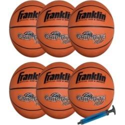 Franklin Sports Official Size Grip - Rite 100 Team Basketball Pack/Pump