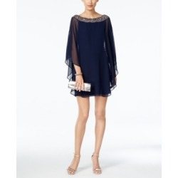 Xscape Embellished Chiffon Petite Cape-Overlay Dress found on Bargain Bro India from Macys CA for $198.06