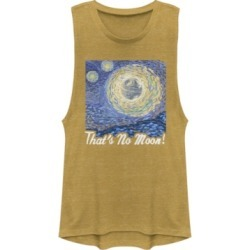 Fifth Sun Star Wars Death Starry Night That's No Moon Festival Muscle Tank
