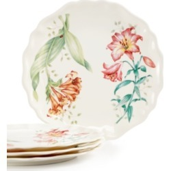 Lenox Butterfly Meadow Set of 4 Melamine Salad Plates
