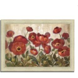 Tangletown Fine Art Daydreaming Flowers by Silvia Vassileva Framed Painting Print, 36