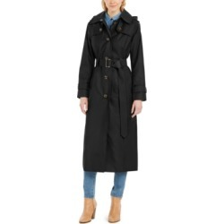 London Fog Petite Hooded Water-Repellent Trench Coat found on MODAPINS from Macys CA for USD $116.14