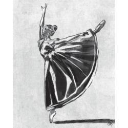 "Creative Gallery Ballet Balance in Black White 36"" x 24"" Canvas Wall Art Print"