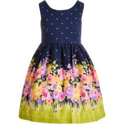 Bonnie Jean Toddler Girls Bow-Back Floral Dress