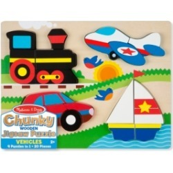 Melissa and Doug Chunky Jigsaw Puzzle - Vehicles