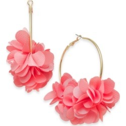 Inc Gold-Tone Fabric Flower Hoop Earrings, Created for Macy's found on Bargain Bro Philippines from Macy's for $22.12