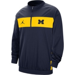 Jordan Men's Michigan Wolverines Sideline Quarter-Zip Pullover found on Bargain Bro India from Macy's for $80.00