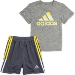 adidas Baby Boys 2-Pc. Heathered T-Shirt & Shorts Set found on Bargain Bro India from Macy's for $27.00