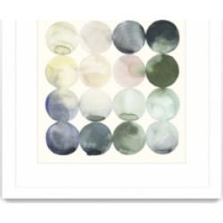 """Giant Art Pastel Hoops Ii Matted and Framed Art Print, 36"""" x 36"""""""