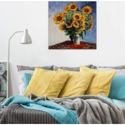 "iCanvas ""Sunflowers"" by Claude Monet Gallery-Wrapped Canvas Print (26 x 26 x 0.75)"