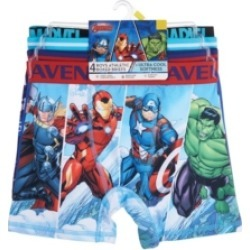 Marvel Avengers Big Boys Athletic Boxer Briefs, Set of 4