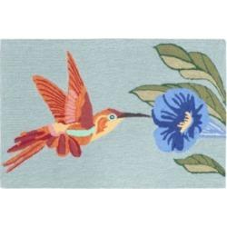 """Liora Manne Front Porch Indoor/Outdoor Hummingbird Sky 2'6"""" x 4' Area Rug"""