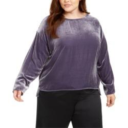 Eileen Fisher Plus Size Velvet Top