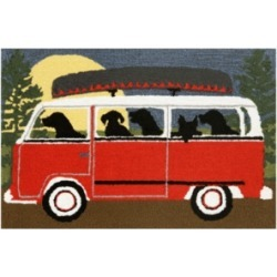 """Liora Manne Front Porch Indoor/Outdoor Camping Trip Red 2'6"""" x 4' Area Rug"""