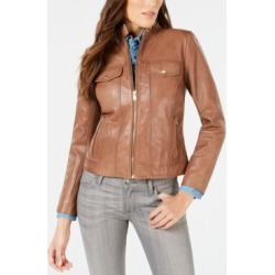 Cole Haan Seamed Leather Jacket found on MODAPINS from Macys CA for USD $274.28
