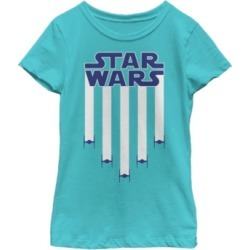 Fifth Sun Star Wars Big Girl's Fighter Jets Star Bangled Banner July 4th Short Sleeve T-Shirt found on Bargain Bro India from Macys CA for $23.08