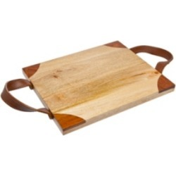 Godinger Wood Tray with Leather Handles found on Bargain Bro India from Macy's for $24.99