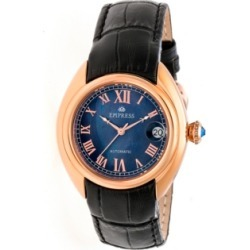 Empress Antoinette Automatic Rose Gold Case, Blue Dial, Black Leather Watch 38mm found on Bargain Bro India from Macy's for $162.99