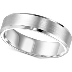 Brush Finish Beveled-Edge Wedding Band in 14k White Gold found on Bargain Bro India from Macy's Australia for $2327.53