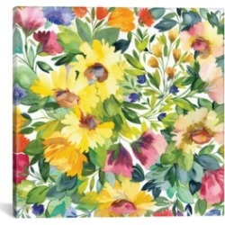 "iCanvas ""Lydia'S Garden"" By Kim Parker Gallery-Wrapped Canvas Print - 26"" x 26"" x 0.75"""