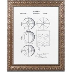 Claire Doherty 'Basketball Patent 1929 White' Ornate Framed Art - 16