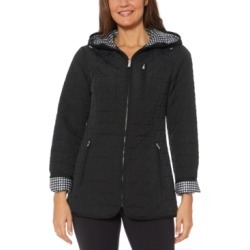 Jones New York Water-Resistant Hooded Quilted Jacket found on MODAPINS from Macys CA for USD $94.81