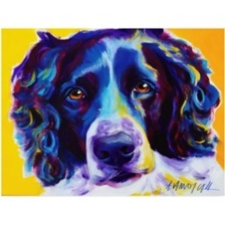 "DawgArt English Springer Spaniel Emma Canvas Art - 27"" x 33.5"""