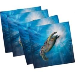 """Ambesonne Turtle Set of 4 Napkins, 18"""" x 18"""""""