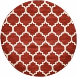 Bridgeport Home Arbor Arb1 Red 6' x 6' Round Area Rug found on Bargain Bro India from Macy's for $194.00