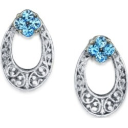 2028 Silver Tone Light Crystal Oval Stud Earring found on Bargain Bro India from Macy's Australia for $21.43