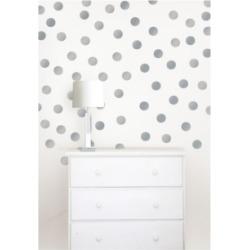 Metallic Silver Confetti Dots Set