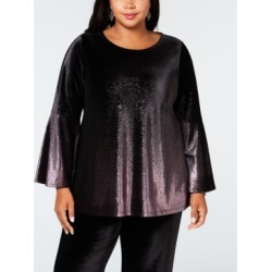 Alfani Plus Size Metallic Velvet Top, Created for Macy's found on Bargain Bro India from Macys CA for $47.41