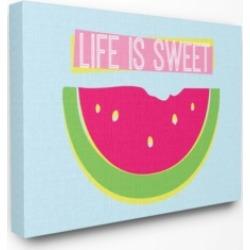 "Stupell Industries Life is Sweet Watermelon Neon Canvas Wall Art, 24"" x 30"""