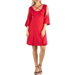 Women's Knee Length Cold Shoulder Dress found on MODAPINS from Macy's for USD $66.99