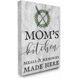 "Stupell Industries Mom's Kitchen Meals and Memories Cavnas Wall Art, 16"" x 20"""