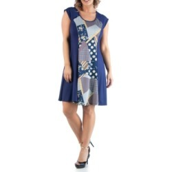 24seven Comfort Apparel Women's Plus Size A Line Dress found on MODAPINS from Macy's for USD $55.99