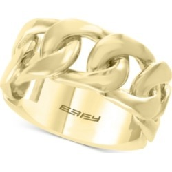 Effy Men's Chain Link Ring in 14k Gold-Plated Sterling Silver found on MODAPINS from Macy's for USD $400.00