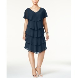 Sl Fashions Plus Size Tiered Shift Dress found on Bargain Bro India from Macys CA for $114.22